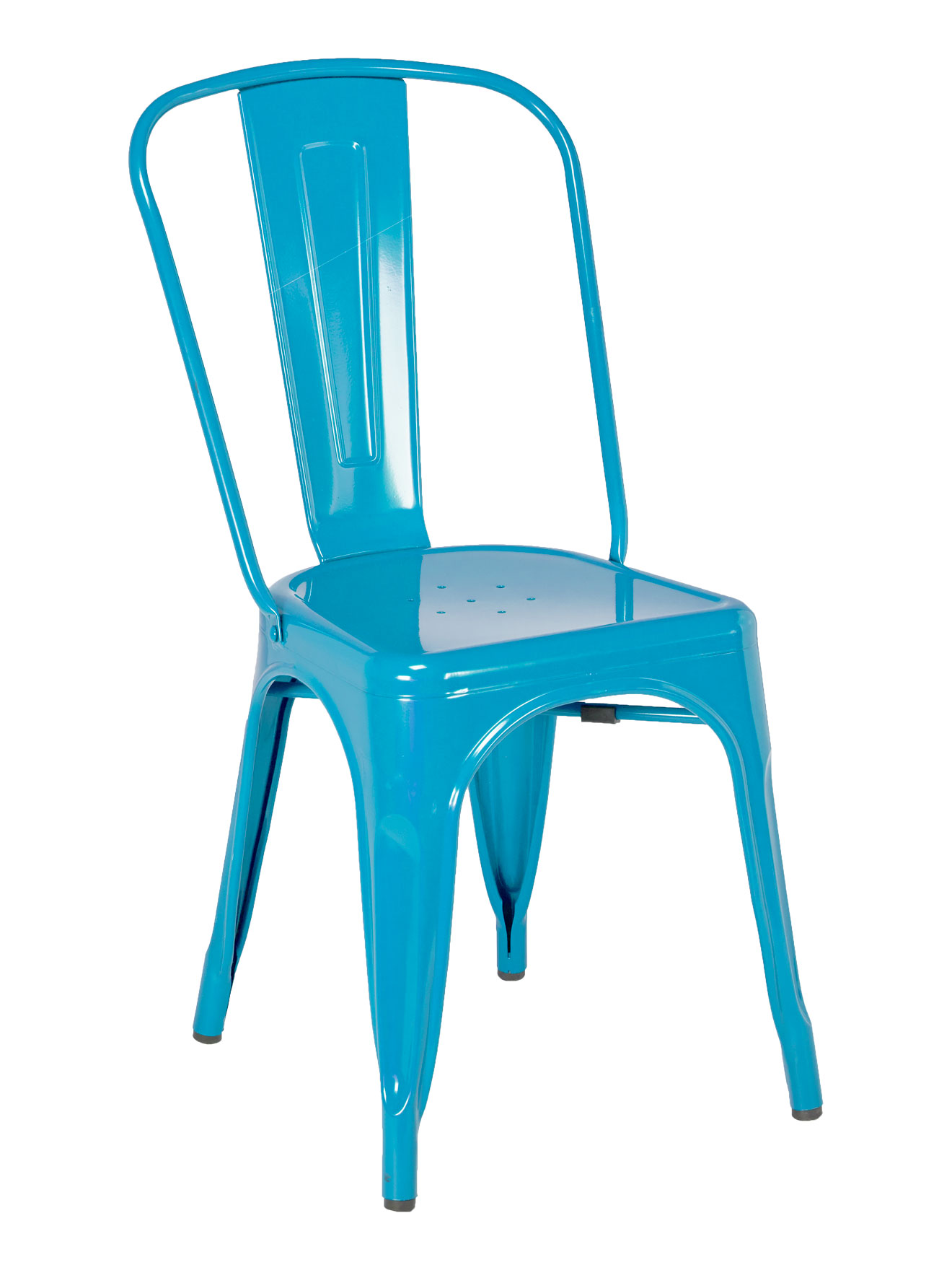 industrial chair blue