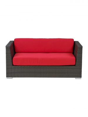 CB LOVE SEAT WITH RED CUSHION