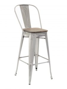 Industrial Barstool – Clearcoat