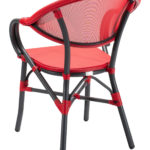 Metro A Anthracite Red Back